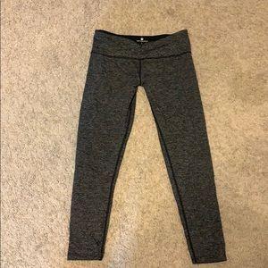 Gray striped leggings